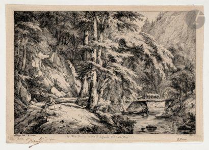 Eugène Bléry (1805-1886) Le Pont Perraut,...