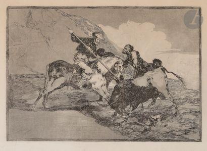 Francisco de Goya y Lucientes (1746-1828) Modo con que los antiguos españoles cazaban...