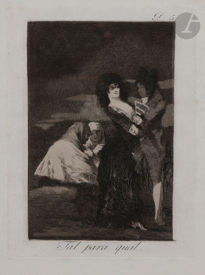 Francisco de Goya y Lucientes (1746-1828) Tu para qual. (Los Caprichos, pl. 5)....