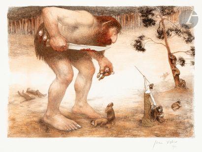 Jean Veber (1864-1928) Le Géant. 1905. Lithographie....