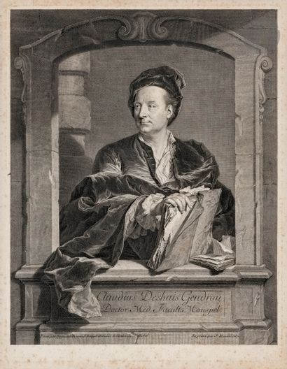 Jean Daullé (1703-1763) Claude Deshaies-Gendron. 1737. Gravé d'après H. Rigaud.357x465....