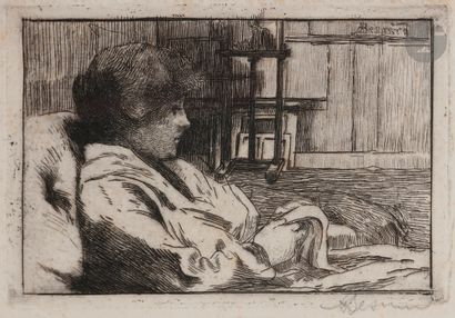 Albert Besnard (1849-1934) La Lecture dans...