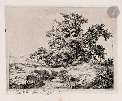 Eugène Bléry (1805-1886) Le Chêne à la mare...