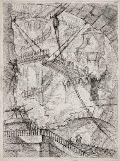 Giambattista Piranesi (1720-1778) Le Pont-levis....