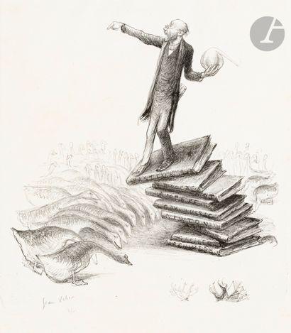 Jean Veber (1864-1928) Le Savant. 1907. Lithographie....