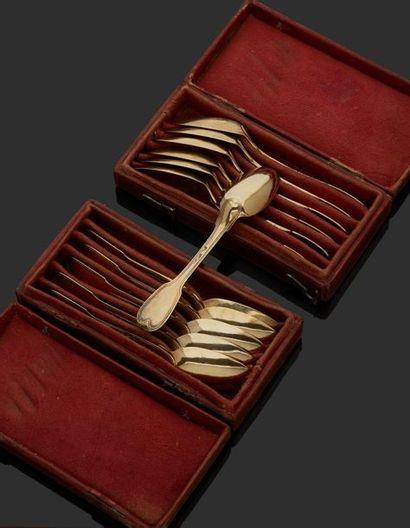 PARIS 1786 Suite de douze petites cuillers...