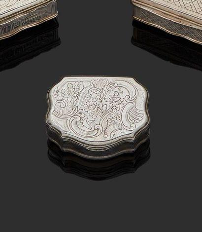 LILLE 1769-1771 Tabatière en argent, modèle...