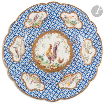 Chantilly Assiette à bord contourné en porcelaine...