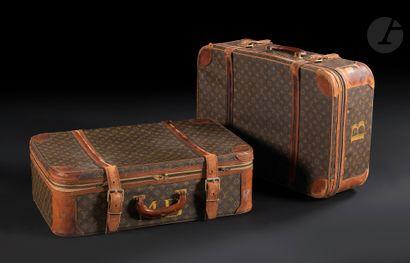 Louis VUITTON Deux valises semi-rigides «...