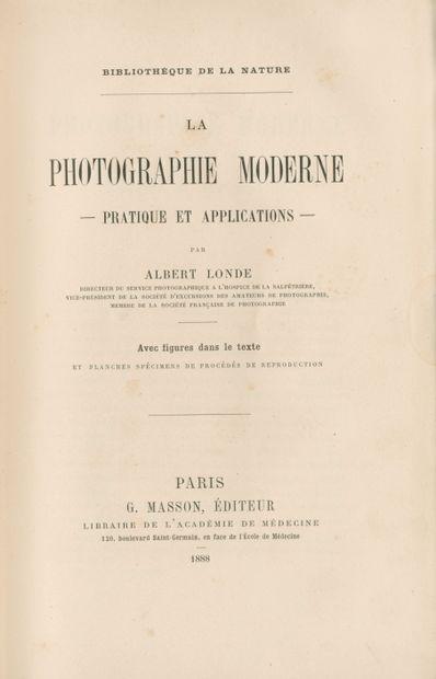 LONDE, ALBERT (1858-1917) La photographie...