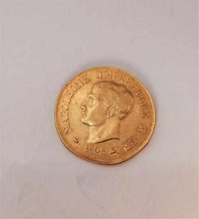 1 pièces de 40 Lire en or. Type Napoleone...
