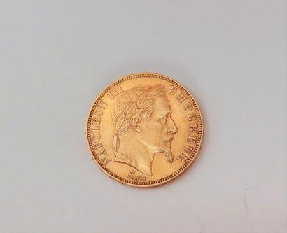 1 pièce de 50 Francs en or. Type Napoléon...