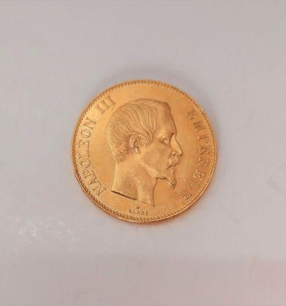 1 pièce de 100 Francs en or. Type Napoléon...