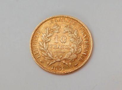 1 pièce de 10 Francs en or. Type Cérès....