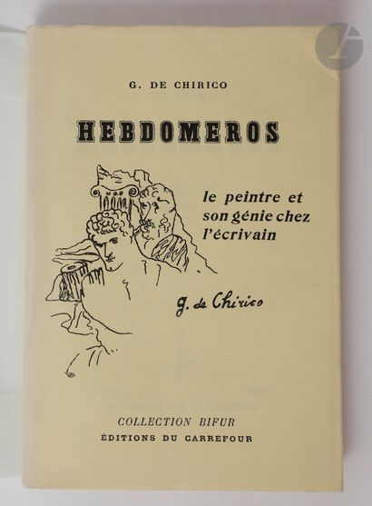 CHIRICO (Giorgio de). Hebdomeros. Paris :...