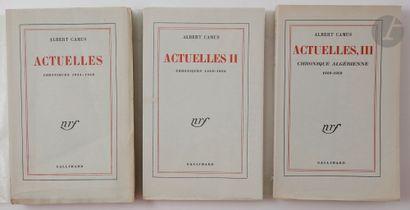 CAMUS (Albert). Actuelles. Chroniques 1944-1948....