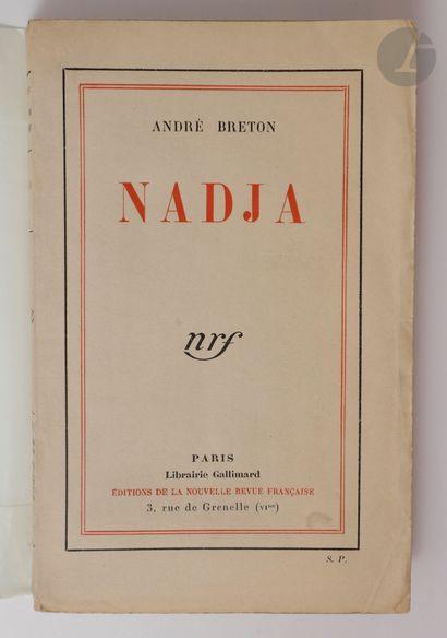 BRETON (André). Nadja. Paris : Nouvelle Revue...