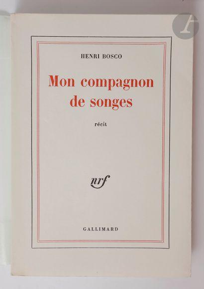 BOSCO (Henri). Ensemble de 2 éditions originales...