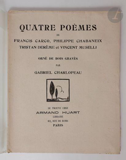 CARCO (Francis). Ensemble de 4 ouvrages :...
