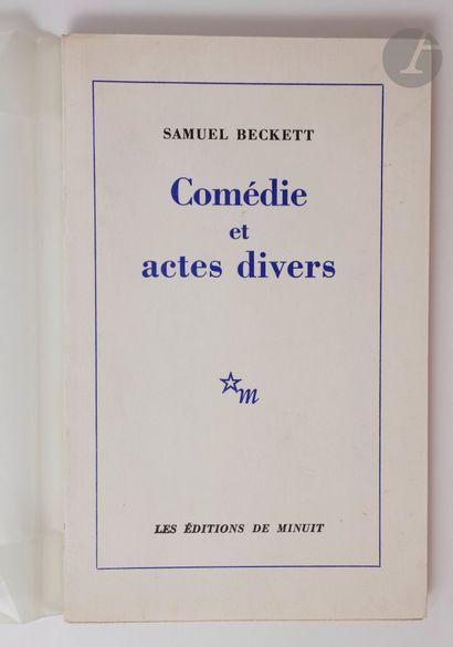 BECKETT (Samuel). Comédie et actes divers....
