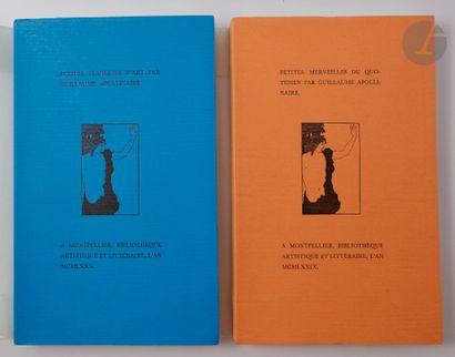 APOLLINAIRE (Guillaume). Ensemble de 4 ouvrages...