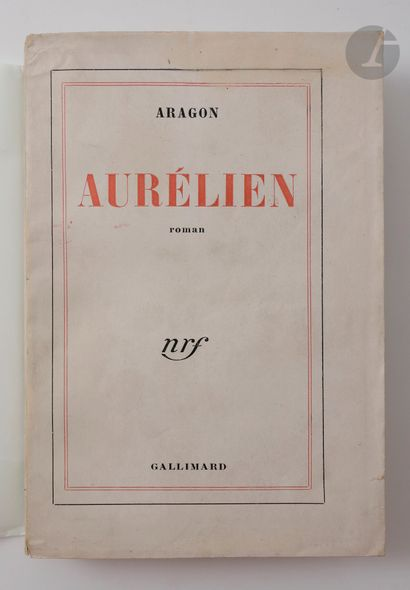 ARAGON (Louis). Ensemble de 3 ouvrages en...