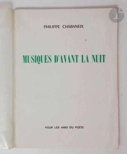 CHABANEIX (Philippe). Ensemble de 5 ouvrages...