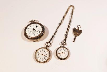 Lot d'argent comprenant une montre de gousset,...