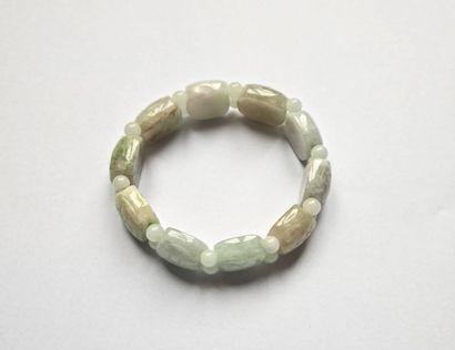 Bracelet de motifs de jade gravés de carapaces...