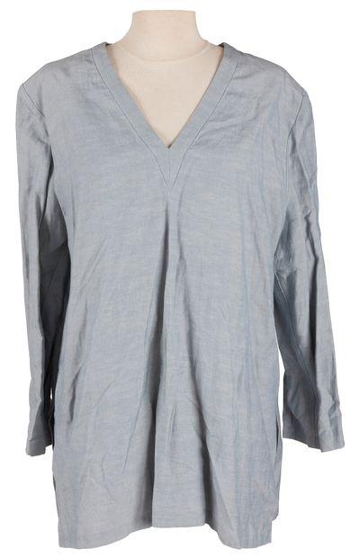 Yves Saint Laurent Rive Gauche  2 longues tuniques en soie et lin, l'une de couleur...