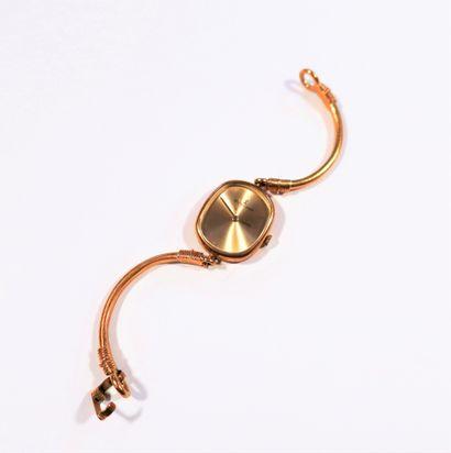 RICHARDS ZEGER  Montre bracelet pour femme en or 18K (750), cadran doré, mouvement...