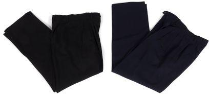 Yves Saint Laurent Rive Gauche  4 pantalons taille haute (T.38 et T.40) ( lainage...
