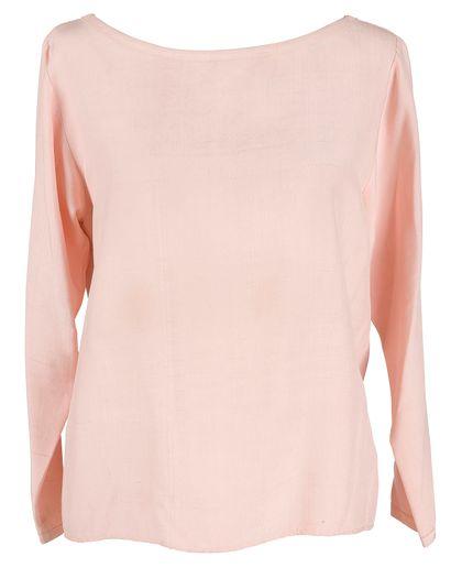 Yves Saint Laurent Rive Gauche  1 blouse en soie sauvage rose (T.36) et 1 blouse...