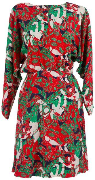Yves SAINT LAURENT Rive Gauche  Lot de 3 robes en soie imprimées dont 1 à décor...
