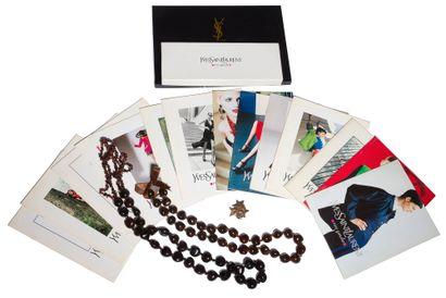 Lot de catalogues Yves Saint Laurent Rive...