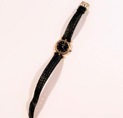 Van Cleef & Arpels  Montre bracelet pour femme en or 18K (750), cadran noir, mouvement...
