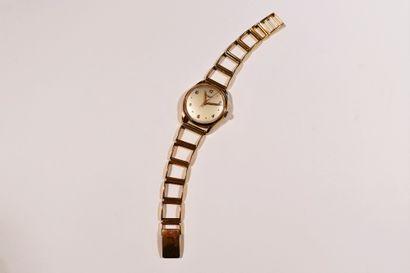 LONGINES. Vers 1960  Montre bracelet pour...