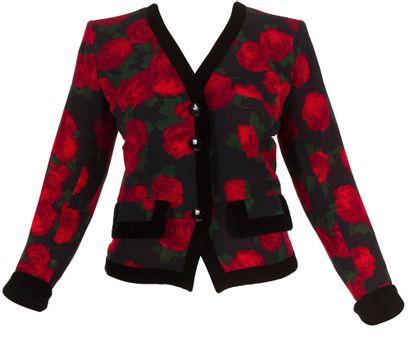 Yves SAINT LAURENT Rive Gauche (5 pièces)  Lot de 2 vestes : 1 en lainage rose (Variation)...