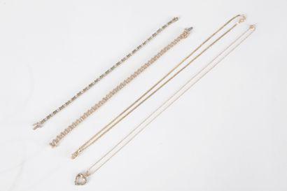 Lot de bijoux en or 9K (375) comprenant :...