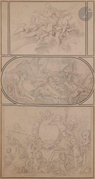 François BOUCHER (Paris 1703 - 1770)  3 dessins...