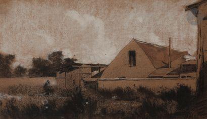Antoine VOLLON (Lyon 1833 - Paris 1900)  Banlieue,...