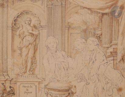 Hubert-François GRAVELOT (Paris 1699 - 1773)...