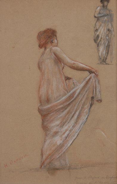 Henri GERVEX (Paris 1852 - 1929)  Deux femmes...