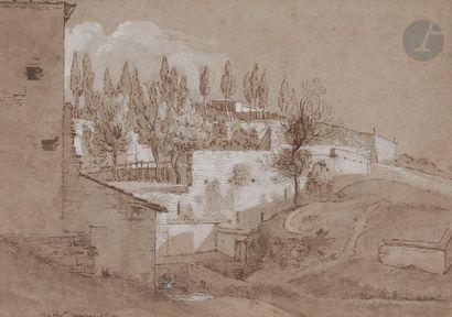 Nicolas DELOBEL (Paris 1693 - 1763)  Terrasse...