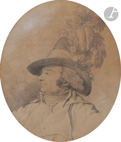 ÉCOLE FRANÇAISE de la fin du XVIIIe siècle  Portrait du commandant de La Bretèche...