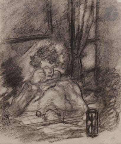 Luc-Albert MOREAU (Paris 1881 - 1948)  Portrait...