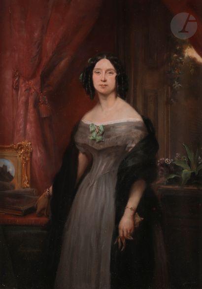 Eugène DEVÉRIA (Paris 1805 - Pau 1865)  Portrait...