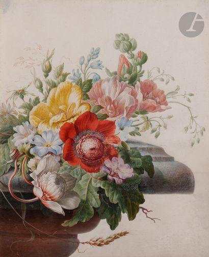 Herman HENSTENBURG (Hoorn 1667 - 1726)  Bouquet...