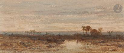 Félix ZIEM (Beaune 1821 - Paris 1911)  Paysage...