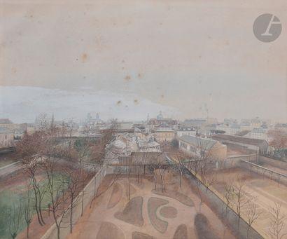ÉCOLE FRANÇAISE du XIXe siècle  Vue de Paris...